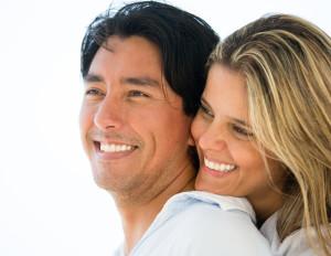 Smiling White Teeth Couple