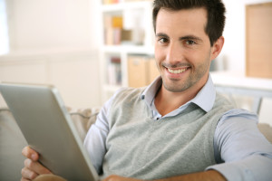 Smiling IPad Guy
